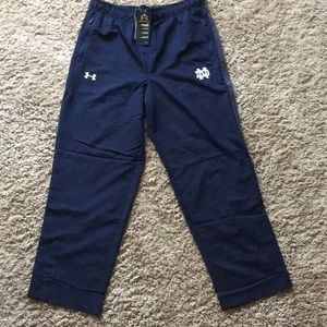NWT Under Armour Notre Dame track pants size large